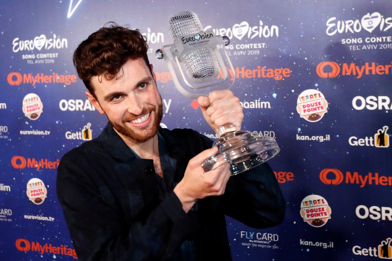 """2019-aisiais tarptautinį """"Eurovizijos"""" dainų konkursą laimėjo Duncanas Larwence'as.<br>Reuters/Scanpix nuotr."""