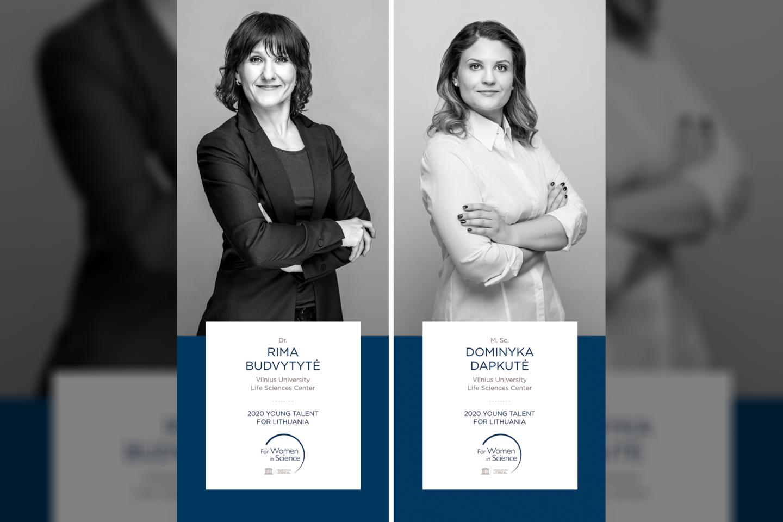 Konkurso laimėtojomis paskelbtos dvi Lietuvos mokslininkės Rima Budvytytė ir Dominyka Dapkutė,<br>T.Kaunecko nuotr.