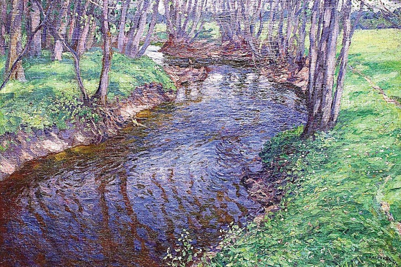 """Dėl P.Kalpoko paveikslo """"Upelis pavasarį"""" buvo kilę giminaičių ginčų.<br>M.K.Čiurlionio muziejaus nuotr."""