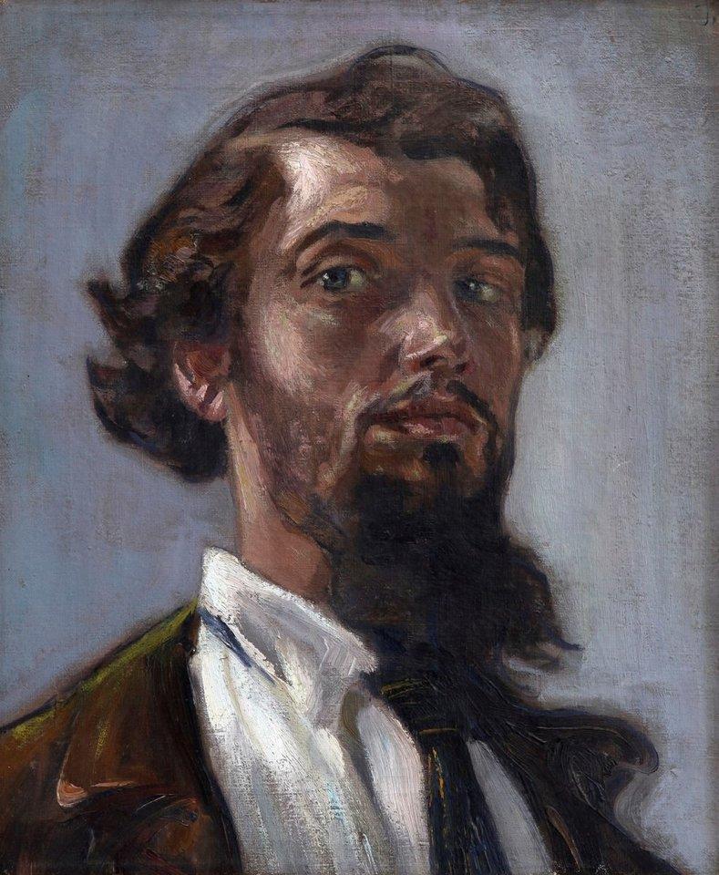 Petro Kalpoko autoportretas.<br>M.K.Čiurlionio muziejaus nuotr.