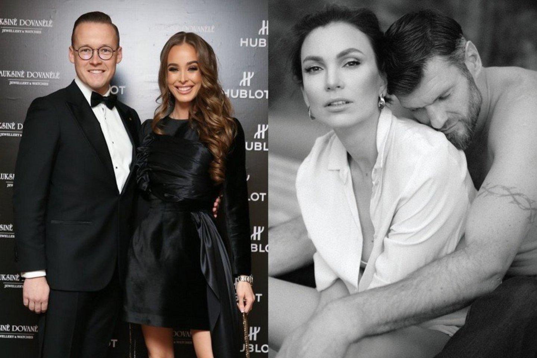 Lukas Suodaitis ir Viktorija Siegel bei Tatjana ir Kšištofas Lavrinovičiai.<br>LR koliažas.