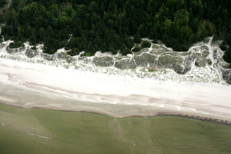 Smiltynės paplūdimiuose dar negalima maudytis.<br>V.Balkūno nuotr.