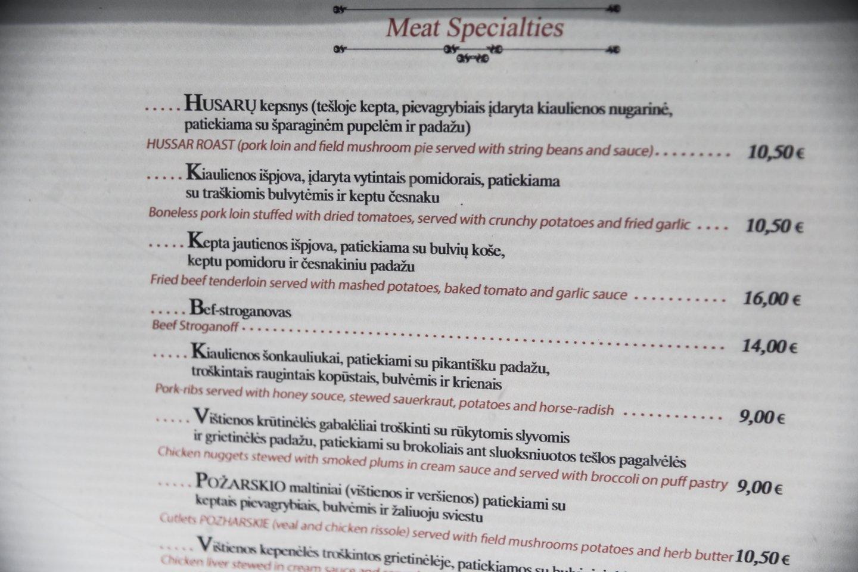 Jei nebaido kainos, iš siūlomo meniu išsirinksite, ką valgyti.<br>V.Skaraičio nuotr.