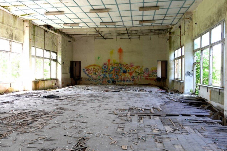 Sovietmečiu klestėjusios profesinės technikos mokyklos pastatai – nuniokoti.<br>A.Švelnos nuotr.