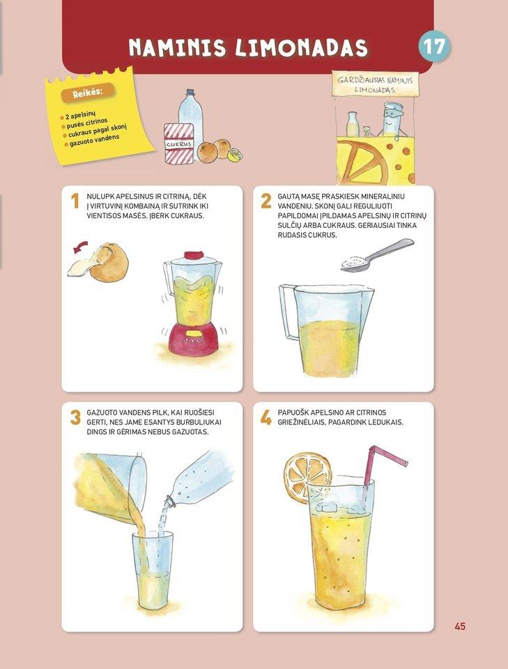 "Receptas – naminis limonadas.<br> ""Alma littera"" nuotr."