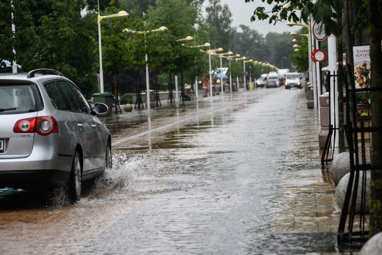 Lietuvą skalaus lietūs.<br>V.Skaraičio nuotr.