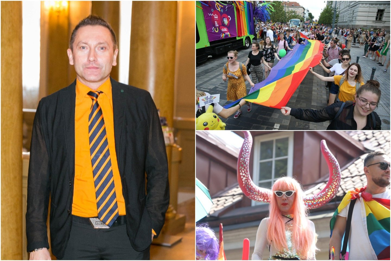 """V.Simonko teigė, kad eitynes veikiausiai organizuoja jaunimas, kuris nenorėjo porą metų laukti kito """"Baltic Pride"""" renginio sostinėje.<br>R.Danisevičiaus nuotr."""