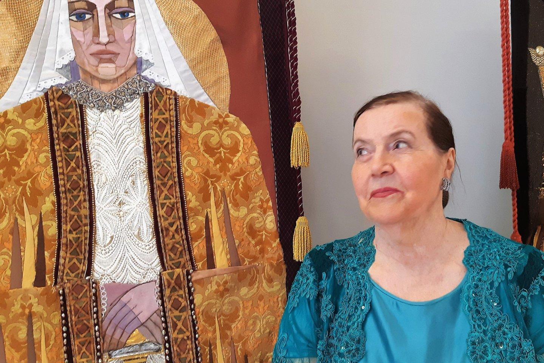 Sofija Kanaverskytė meno gerbėjus sukvietė į savo kūrybos parodą P. Domšaičio galerijoje.<br>G.Pilaičio nuotr.