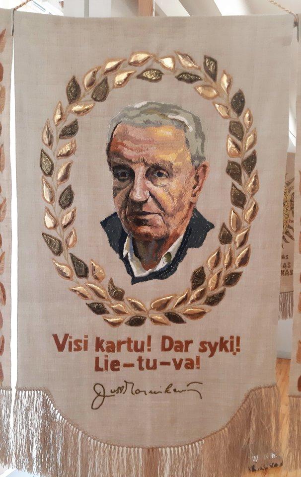 """""""Lietuvos didieji"""". Poetas Justinas Marcinkevičius.<br>G.Pilaičio nuotr."""