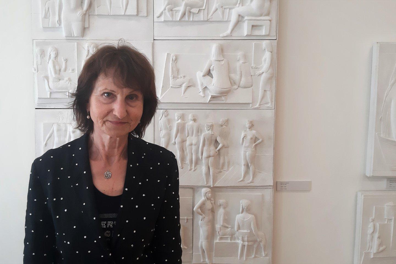P. Domšaičio galerijos vadovė Kristina Jokubavičienė.<br>G.Pilaičio nuotr.