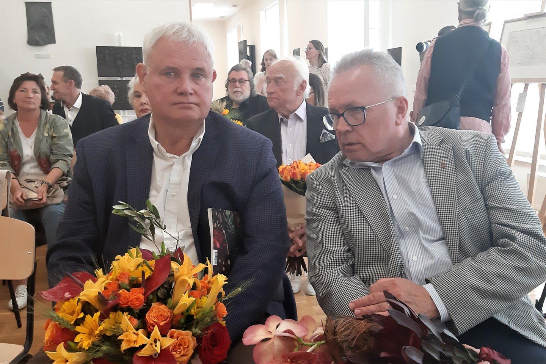 Klaipėdos meras V.Grubliauskas ir jo pavaduotojas A.Cesiulis.<br>G.Pilaičio nuotr.