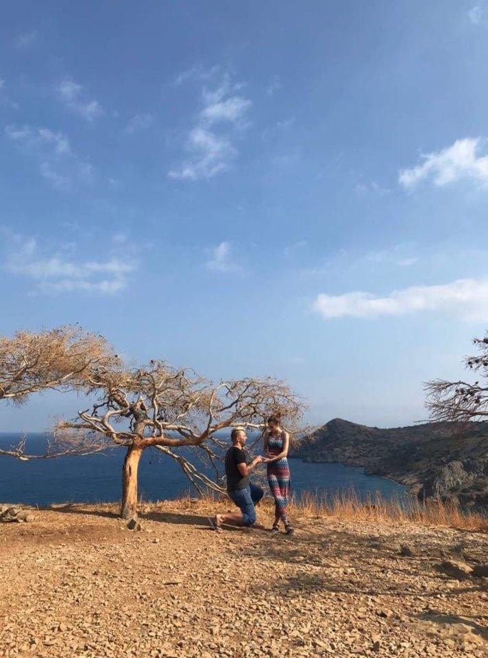 Irmantas Odetai pasipiršo kelionės po Kretą metu.<br>Asmeninio archyvo nuotr.