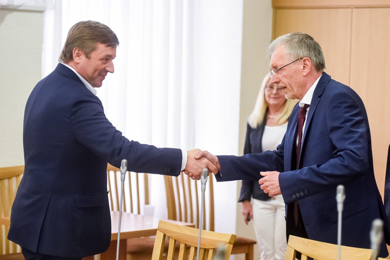 Ramūnas Karbauskis, Gediminas Kirkilas<br>D.Umbraso nuotr.