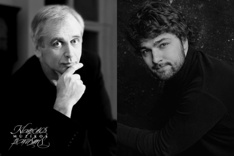 G.Rinkevičiaus diriguojamas Lietuvos valstybinis simfoninis orkestras ir pianistas L.Geniušas (dešinėje) iškels simfoninės muzikos puotą.