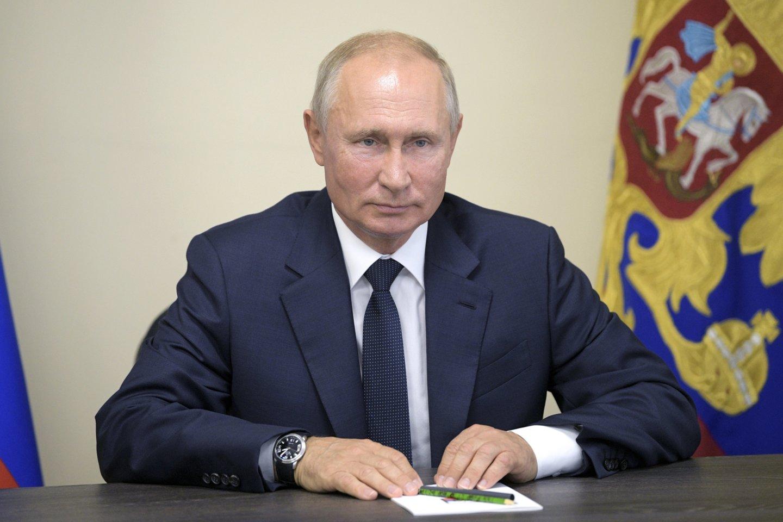 V. Putinas paskyrė naują gubernatorių protestų krečiamam Chabarovsko kraštui. <br>AP/Scanpix nuotr.