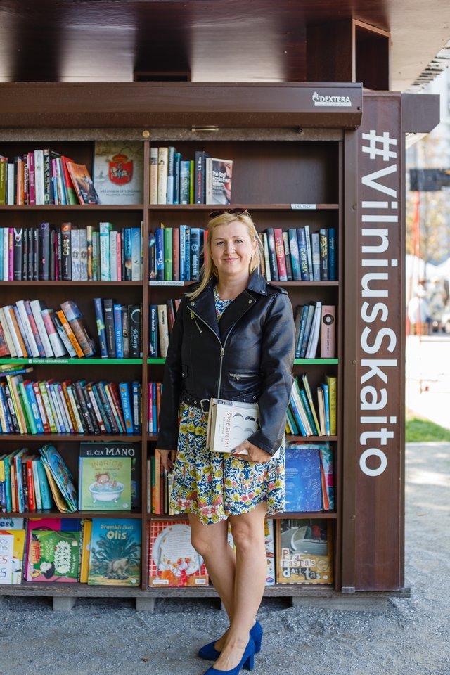 """Skaityklos """"#VilniusSkaito"""" įkūrėja ir vadovė Jurga Mandrijauskaitė.<br>J.Mandrijauskaitės nuotr."""