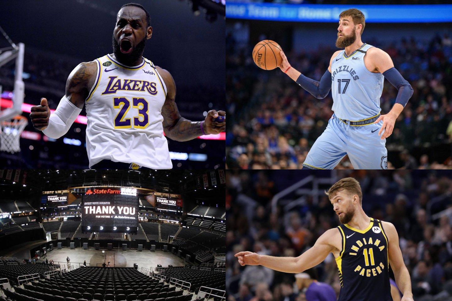 Jau penktadienio naktį startuoja atsinaujinęs NBA sezonas.<br>lrytas.lt koliažas