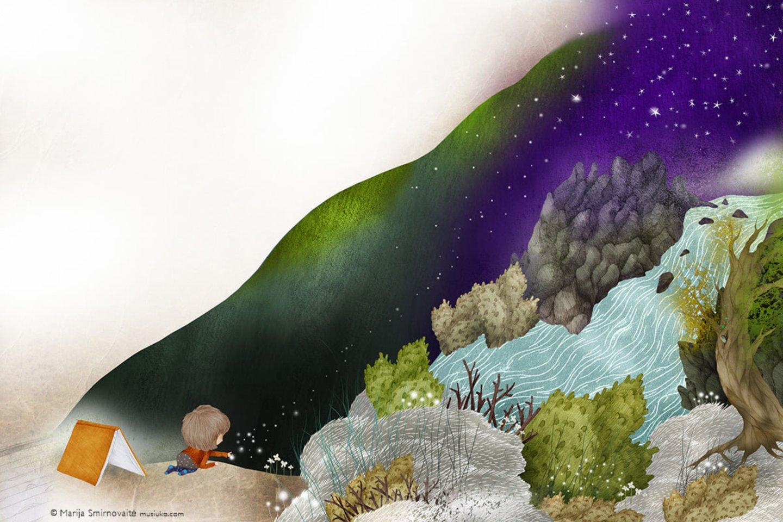 """Virgio Šidlausko knygą """"Stogas, po kuriuo auginu žvaigždes ir lietų"""" iliustravo dailininkė Marija Smirnovaitė.<br>""""Nieko rimto"""" nuotr."""