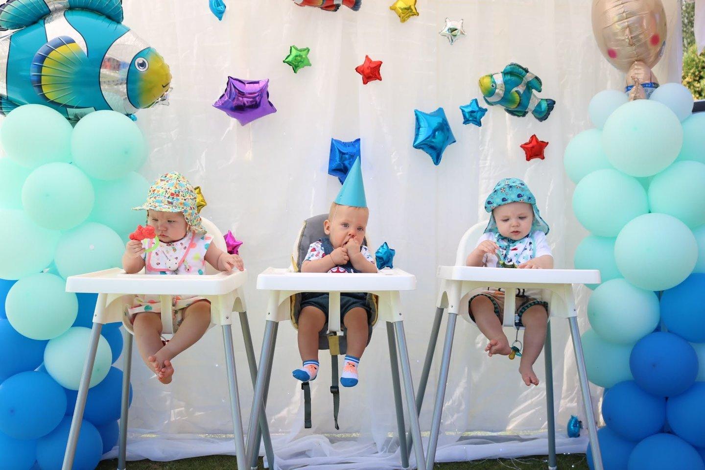 Aronas su pusbroliu ir pussesere turėjo gimti dviejų savaičių skirtumu, o gimė - trimis mėnesiais anksčiau.<br> Asmeninio archyvo nuotr.