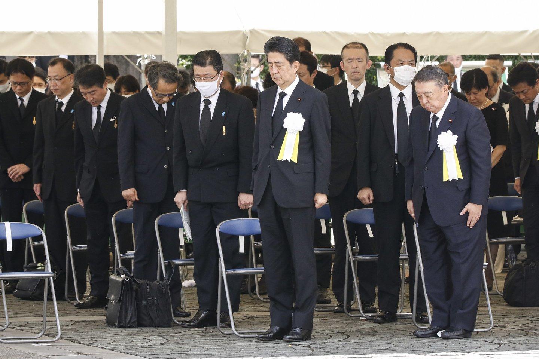 Japonija sekmadienį mini 75-ąsias Nagasakio atominio bombardavimo metines.<br>ZUMA press/Scanpix nuotr.