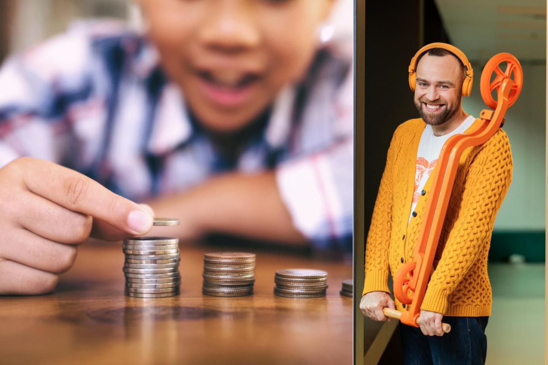 Vaikus su pinigais turi supažindinti tėvai.<br>lrytas.lt koliažas