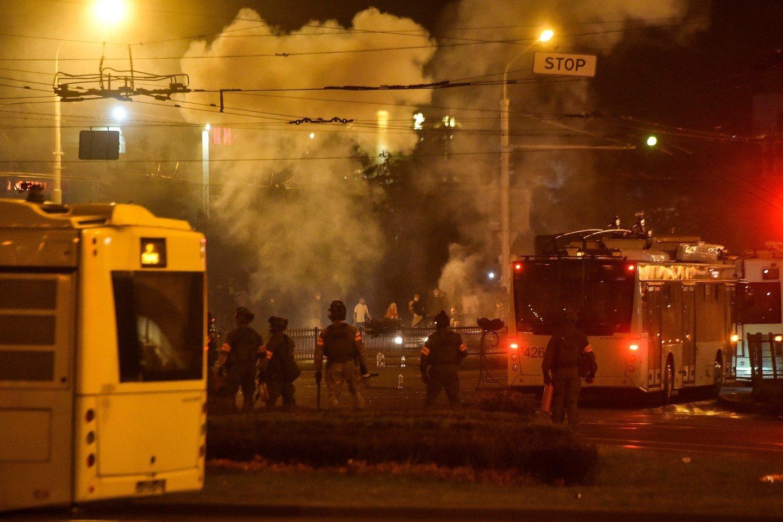 Įvykiai Baltarusijoje.<br>AFP/Scanpix nuotr.