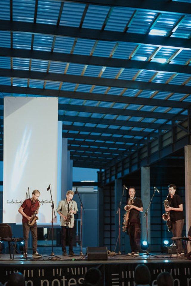 """Akimirka išRaseinių šiuolaikinės muzikos festivalio """"Uncseen Notes"""".<br>S.Gudaičio nuotr."""