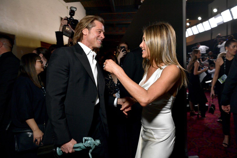 Bradas Pittas ir Jennifer Aniston.<br>Scanpix/FP nuotr.