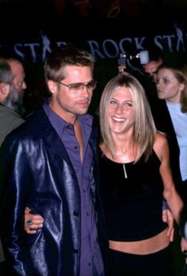 Bradas Pittas ir Jennifer Aniston.<br>Scanpix/IM nuotr.