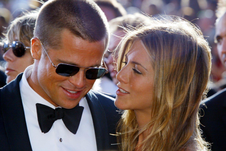 Bradas Pittas ir Jennifer Aniston.<br>Scanpix/Reuters nuotr.