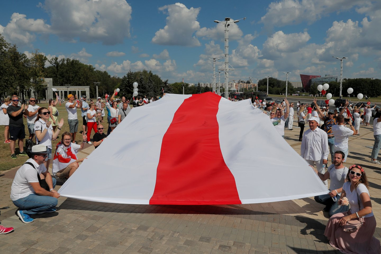 Protestai Baltarusijoje gniaužiami jėga.<br>Reuters/Scanpix nuotr.