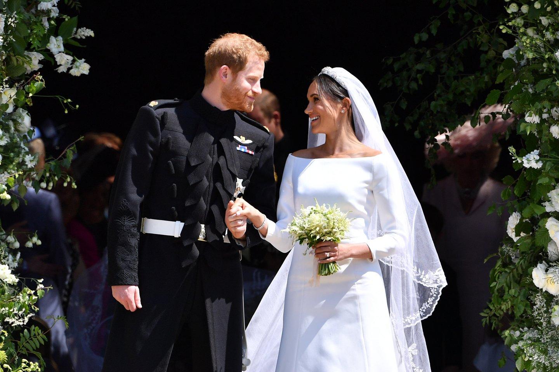 Princas Harry ir Meghan Markle.<br>Scanpix/PA nuotr.