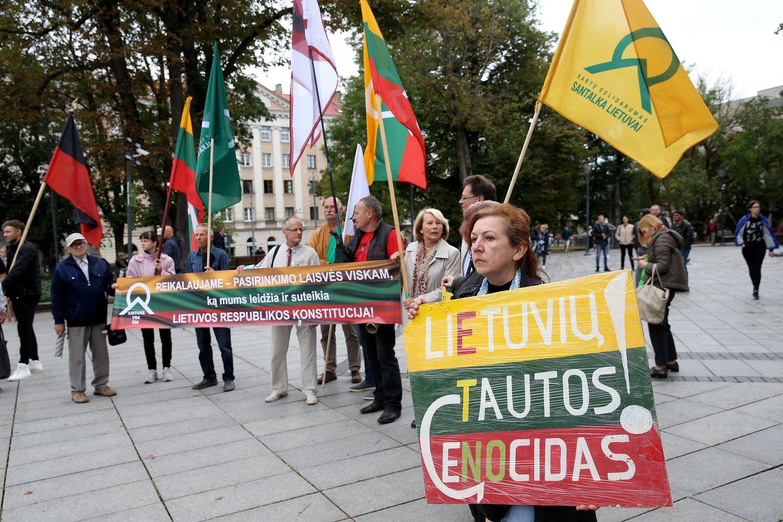 Protestas Vilniuje.<br>R.Danisevičiaus nuotr.