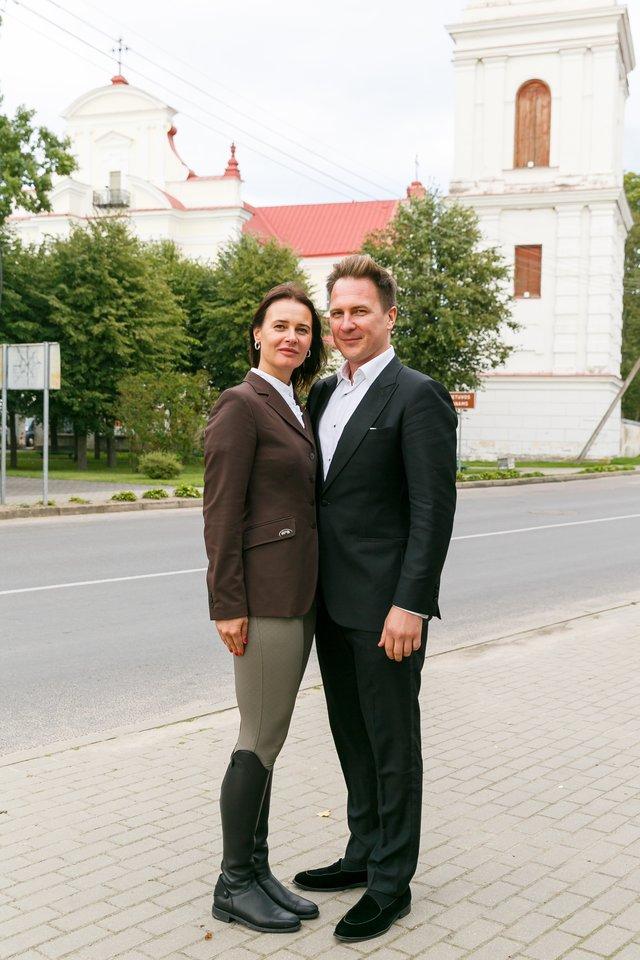 Eugenijus Chrebtovas su Žaneta Fomova.<br>T. Bauro nuotr.