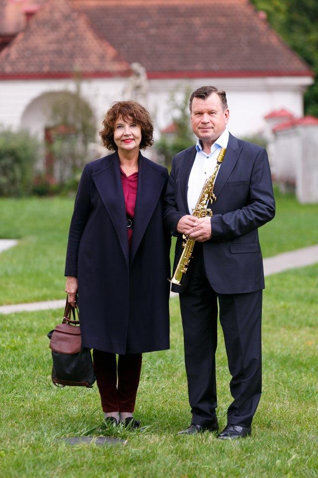 Petras Vyšniauskas su žmona Dalia.<br>T. Bauro nuotr.