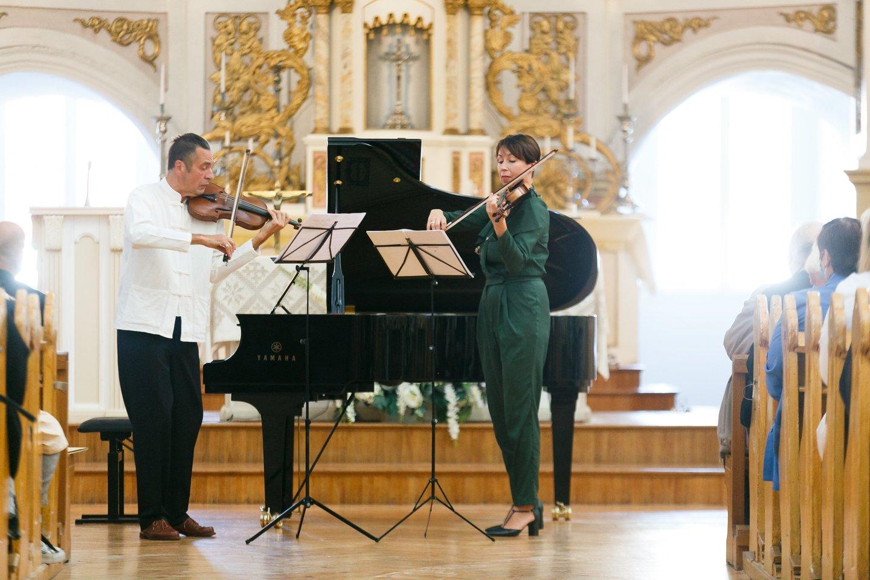 Martynas Švėgžda von Bekkeris ir Barbora Domarkaitė.<br>T. Bauro nuotr.