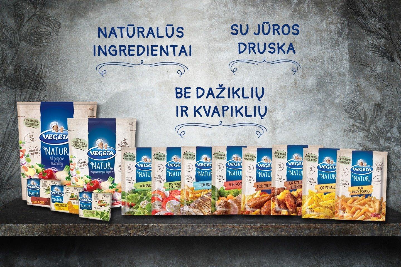 """Trims įdomiausių receptų autoriams konkurso rėmėjas """"Vegeta NATUR"""" padovanos natūralių itin geru skoniu pasižyminčių prieskonių rinkinius."""