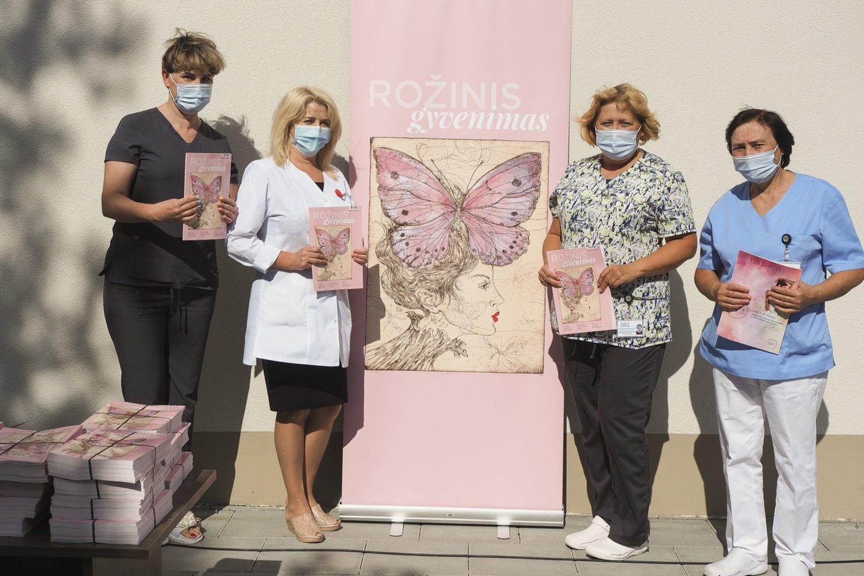 """Žurnalo """"Rožinis gyvenimas"""" pristatymas Nacionaliniame vėžio institute<br>Edmundo Paukštės nuotr."""