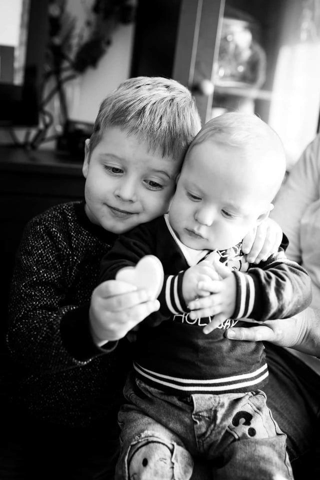 Kilianas su vyresniuoju broliuku.<br>Asmeninio archyvo nuotr.