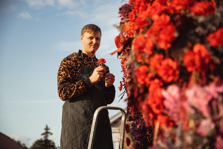 """""""Glamour gėlės"""" arka.<br>G.Rapalis nuotr."""