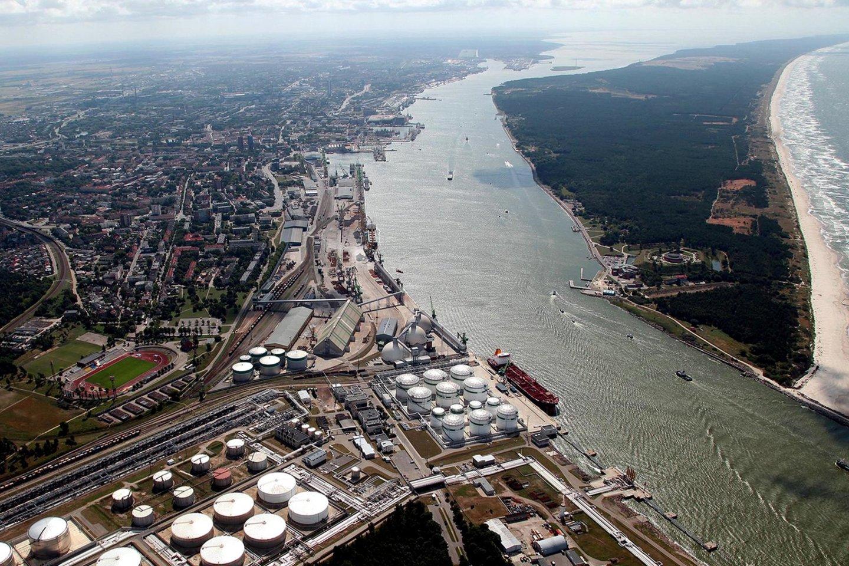 Klaipėdos jūrų uosto laivybos kanalas.<br>S.Rezgevičiaus nuotr.