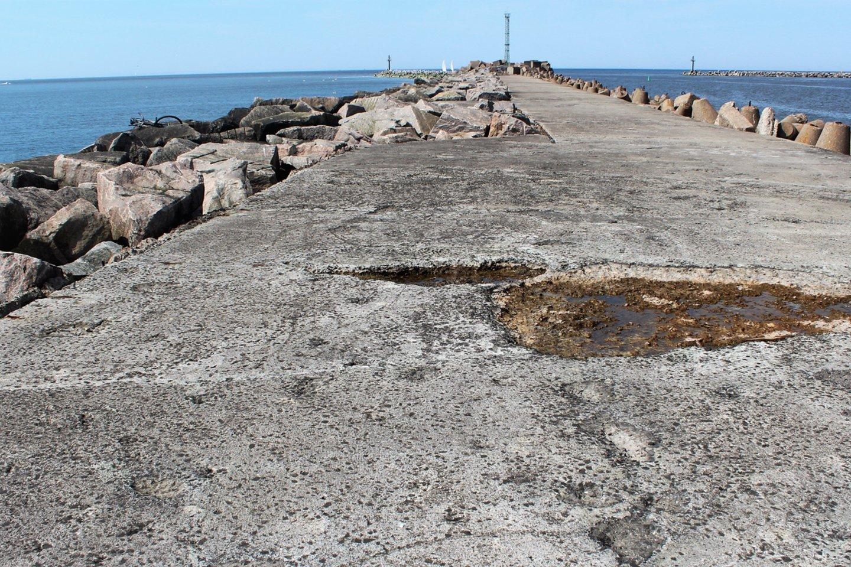 Pietinis uosto molas – ilgesnis ir platesnis.<br>G.Pilaičio nuotr.