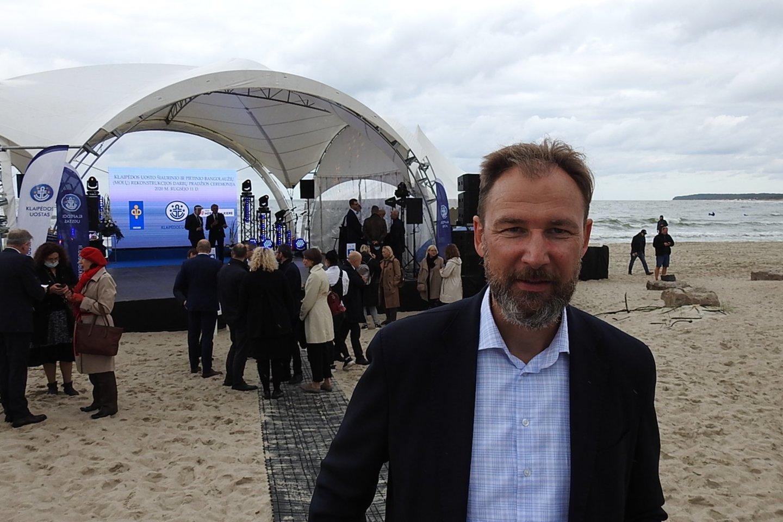 Lietuvos laivų savininkų asociacijos vykdantysis direktorius G.Kutka.<br>G.Pilaičio nuotr.