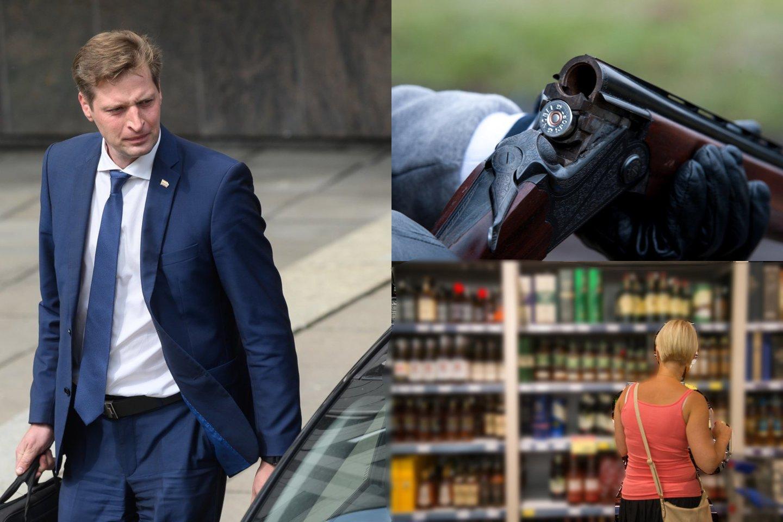 """""""Kaip pavyzdį galiu pasakyti, kad parduotuvės nuostatose turbūt nėra parašyta, kad alkoholiu prekiauti draudžiama nuo tada iki tada, tai yra aukštesnės galios teisės aktai, kurie reguliuoja bendrą veiklą, tai yra panašus pavyzdys, tikrai negalime taip interpretuoti savaip"""", – situaciją vertino ministras.<br>Lrytas.lt koliažas."""