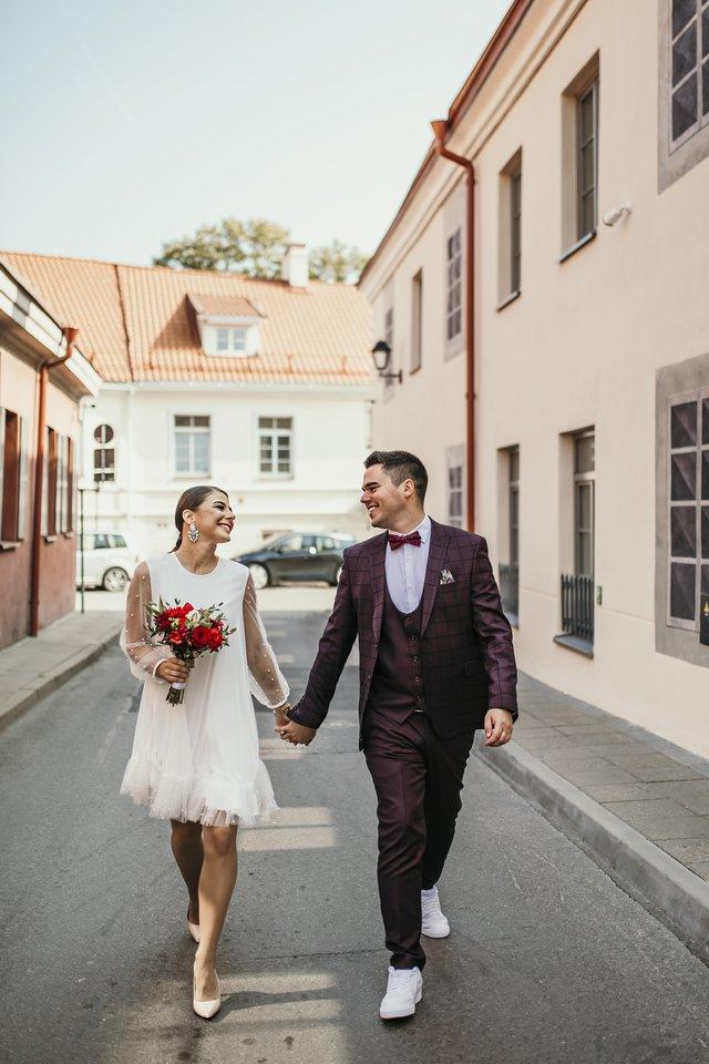 Vestuvių akimirka.<br>V.Krisko nuotr.