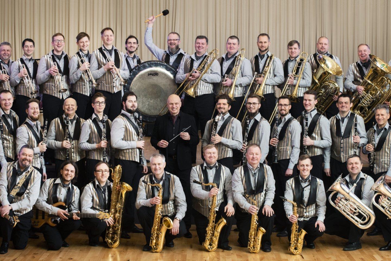 """Valstybinis pučiamųjų instrumentų orkestras""""Trimitas"""".<br>D.Matvejevo nuotr."""