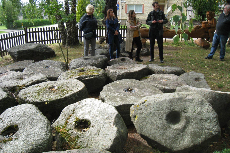 Dubenuotųjų akmenų kolekciją savo iniciatyva surinko buvęs Pasvalio rajono vykdomojo komiteto pirmininkas A.Stapulionis.<br>M.Augulytės nuotr.