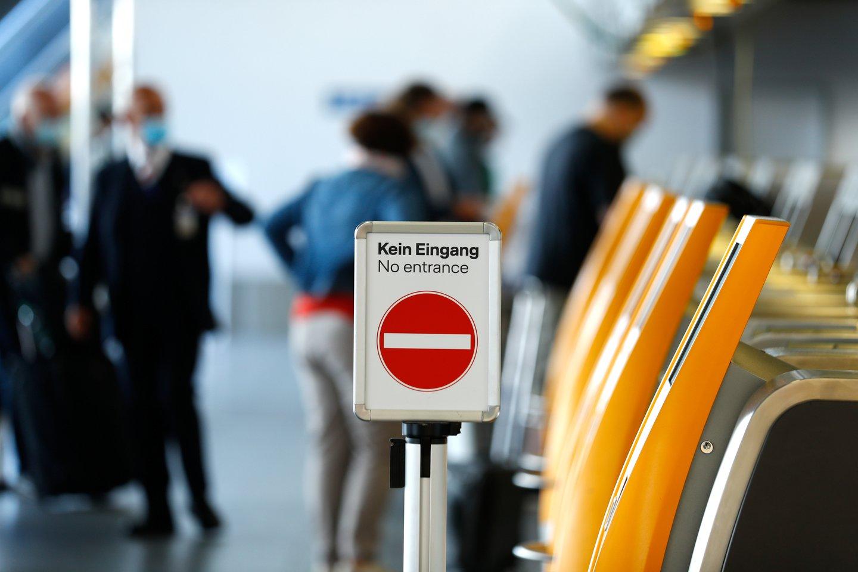 """""""Lufthansa"""" paskelbė dar labiau mažinsianti darbuotojų skaičių.<br>Reuters/Scanpix nuotr."""