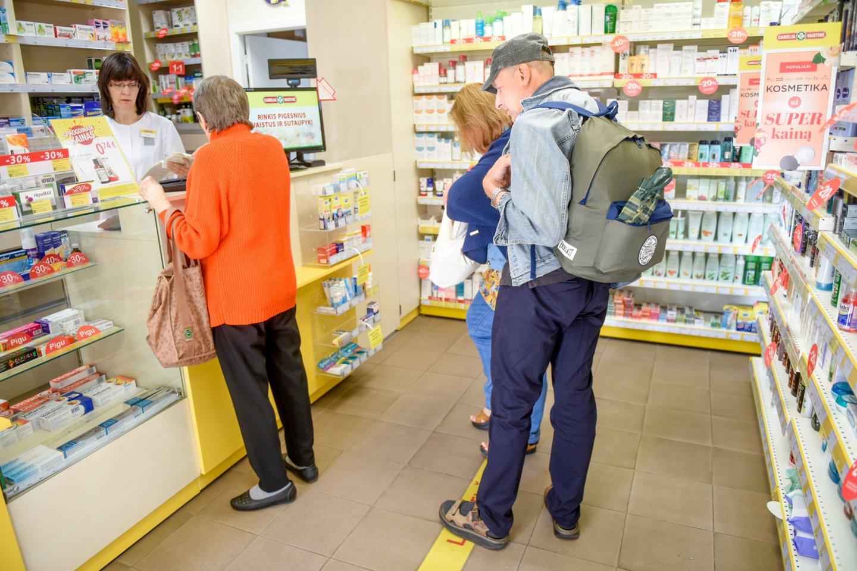 Naujovės nuo naujų metų laukia vaistinių – mažesniuose miesteliuose ar kaimuose jų gali išvis nelikti.<br>D.Umbraso nuotr.