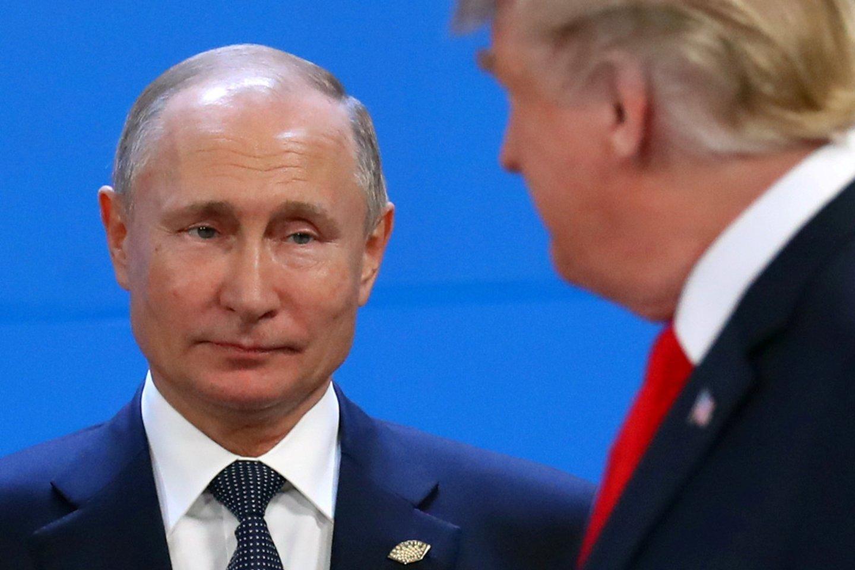 """Rusijos prezidentas Vladimiras Putinas buvo nominuotas šių metų Nobelio taikos premijai, praneša """"Ria Novosti"""".<br>Reuters/Scanpix nuotr."""